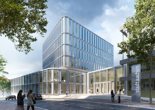 Neubau und Erweiterung Verwaltungsgebäude Lagerhausstraße in Aachen