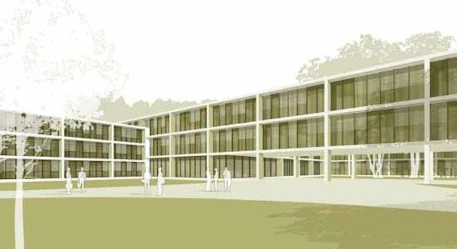 Architektenleistung gem. § 33 HOAI Lph. 2-8, Neubau eines Lehrsaal- und Funktionsgebäudes für die Bundeswehr