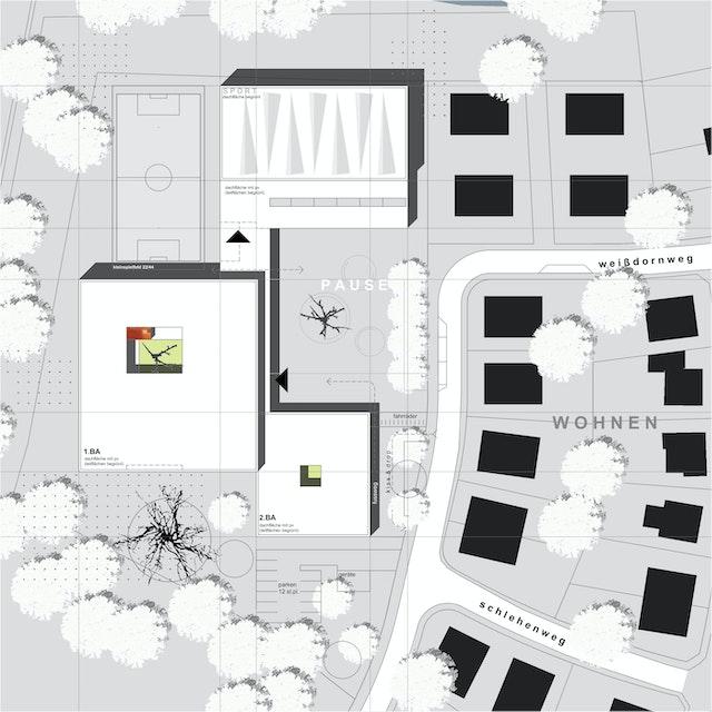 Neubau und Erweiterung einer Grundschule sowie einer Zweifachsporthalle in Sprakel und Albachten