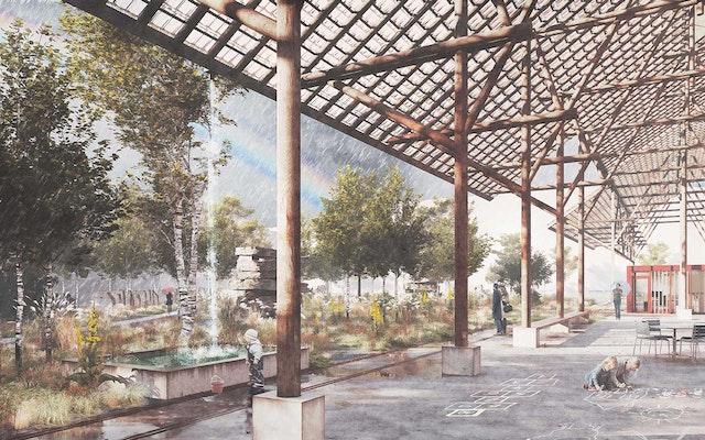Quartierpark auf dem Koch-Areal in Zürich