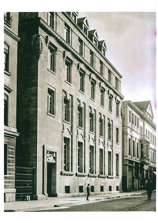 historisches Foto Straßenfassade