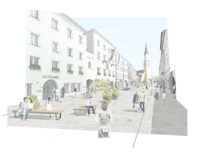Sanierung und Neugestaltung des Stadtplatzes in Vilshofen