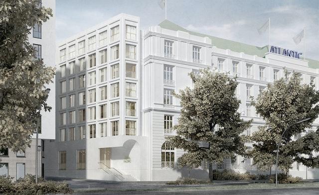 Fassadengestaltung für das Hotelprojekt Alstertwiete in Hamburg
