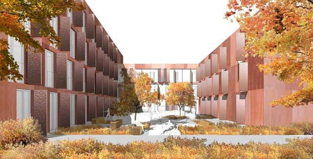Wohnanlage für Studierende auf dem KIT Campus-Ost in Karlsruhe