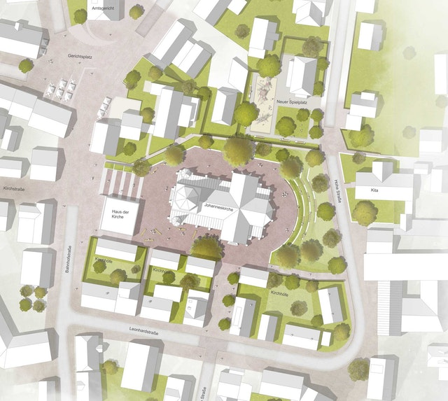 Neugestaltung Umfeld Stadtkirche in Nagold