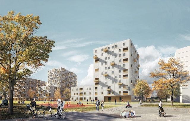 Neubau von Wohnungen an der Berresgasse in Wien - Bearbeitungsgebiet 9