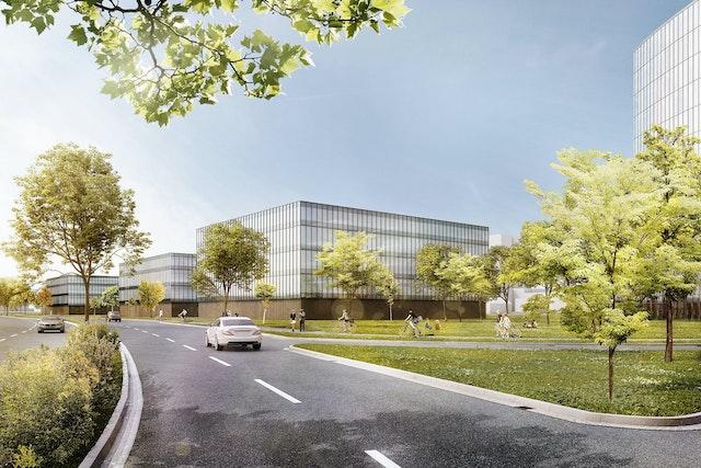 Visualisierung des Masterplans wonach der Neubau für das Body & Brain Institute Münster entsteht