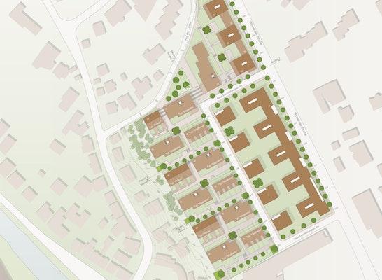 ein 1. Preis - Baufelder 1 und 3: © Siedlungswerk GmbH Wohnungs- und Städtebau mit Ackermann+Raff