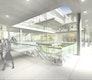 Innenansicht in den Shoppingbereich und den Tanzsaal. In der zweiten Etage befinden sich die Wellness Einrichtungen.