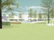 Vinothek mit Partnerschaftsgärten und 'Barcode'