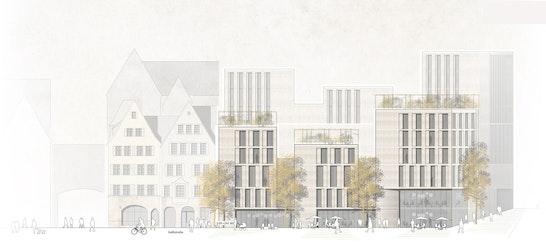 1. Rang Zur Überarbeitung aufgefordert: Ansicht Nord, © h4a Gessert + Randecker Architekten