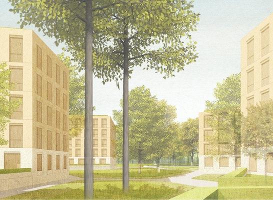 Gewinner Nach Überarbeitung Variante A (Neubau): © O&O Baukunst mit TOPOTEK 1