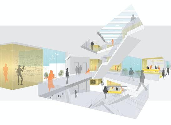 1. Preis: Science Hub, © NOVA Michael Beck Architekten