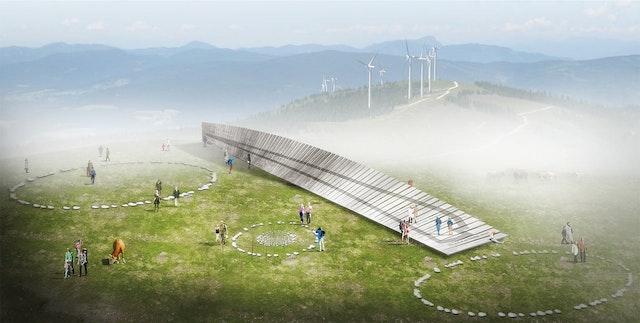 Gestaltungskonzept für den Windpark Pretul
