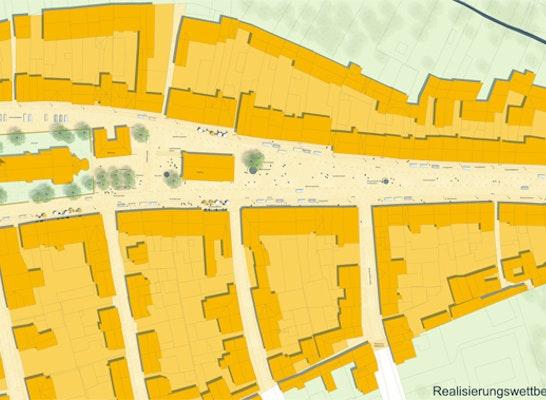 Neuer Marktplatz Hirschau   Lageplan
