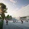 Wettbewerbsbeitrag HPP: HTW Dresden Neubau Lehr- und Laborgebaeude, Sicht vom Platz
