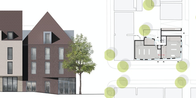 Neubebauung Färberstraße 5 + 9 in Balingen