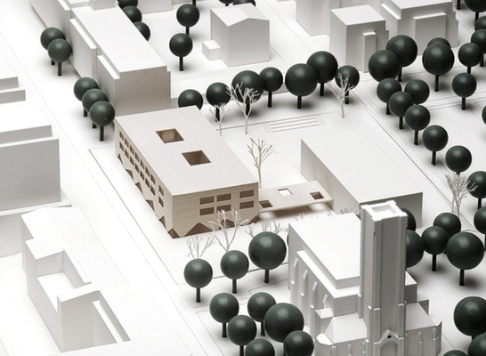 1. Preis: NAK Architekten | Städtebauliches Modell, © Hans-Joachim Wuthenow / Senatsverwaltung für Stadtentwicklung und Wohnen