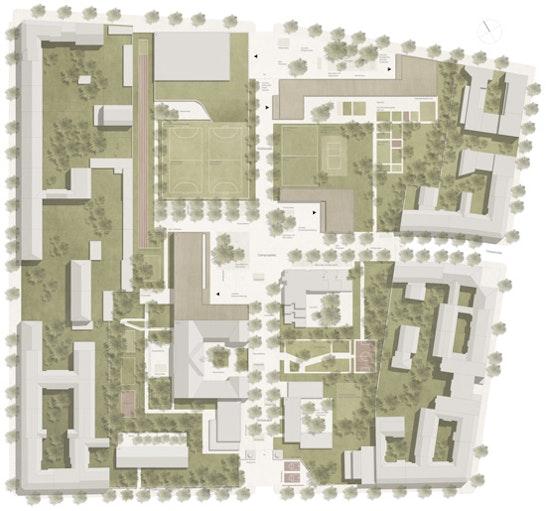 1. Preis: 1. Preis: schulz & schulz Architekten, Leipzig; BERNARD UND SATTLER Landschaftsarchitekten, Berlin