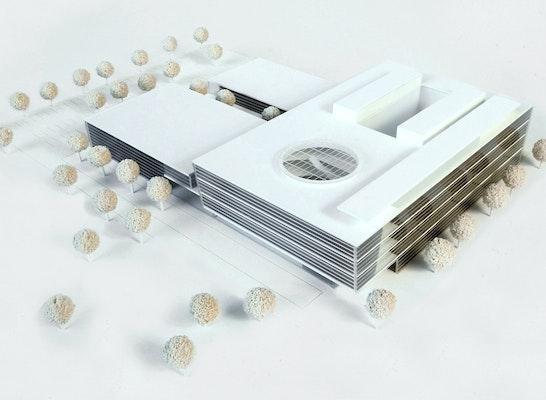 1. Preis: Modell, © Fritsch+Tschaidse Architekten GmbH