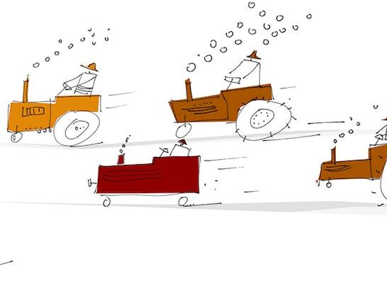 Zuschlag: Traktorenrennen