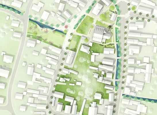 1. Preis Zuschlag: Lageplan Ideen- und Realisierungsteil