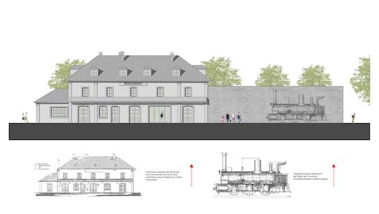 Zuschlag: Ansicht Ost_ Mitarbeit: Matthias Braun & Juhani Karanka, © Architektur Büro Jäcklein