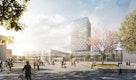 5.Preis: Visualisierung Bahnhofsgebäude mit Büroturm