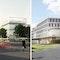Zwei 1. Preise ─ links: ingenhoven architects; rechts: HHS Planer + Architekten AG