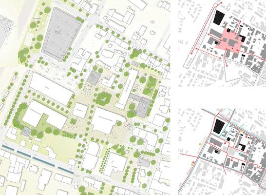 1. Preis: Städtebauliches Konzept, © Plan 7 Architekten