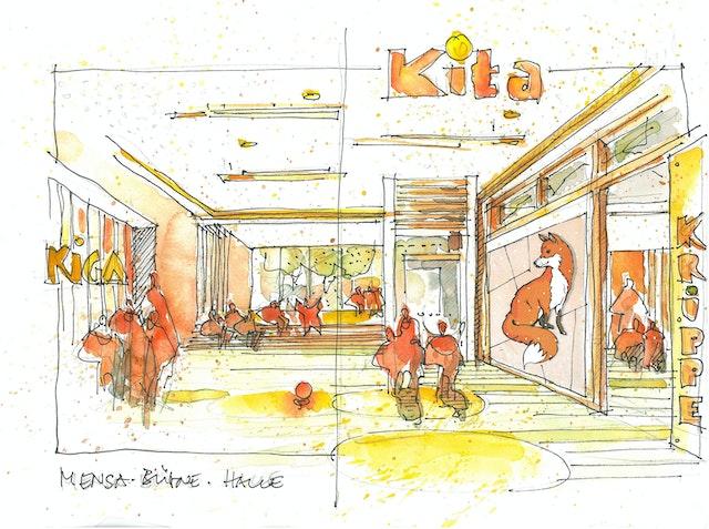 Neubau Kindergarten / Teilneubau der Grundschule Wellendorf