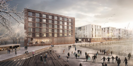 Neue Wohnungen und ein Hotel für den Zollhafen