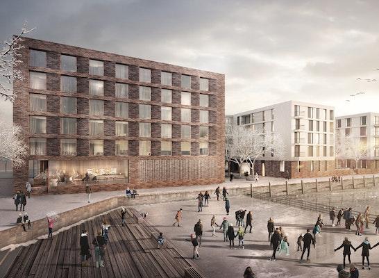 1. Preis: Neue Wohnungen und ein Hotel für den Zollhafen, © kbnk / bloomimages