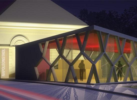 Fassadenansicht Cafe-Zubau