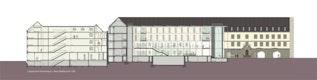 Längsschnitt Siemenshaus + Altes Stadthaus