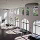 Moderne Fensterfronten der Musikhochschule für Musik, Nürnberg