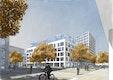 Stadträumliche Perspektive über den Sachsenplatz
