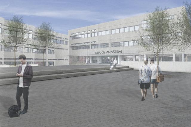 Energetische Hüllsanierung Inda-Gymnasium in Aachen