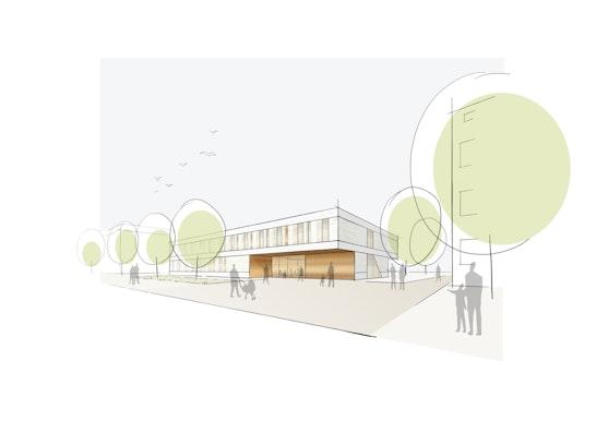 1. Preis: NAK Architekten | Blick von der Rathausstraße, © NAK Architekten