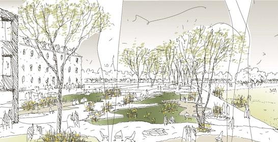 1. Preis 2. Stufe Zuschlag: © lohrer.hochrein landschaftsarchitekten und stadtplaner gmbh