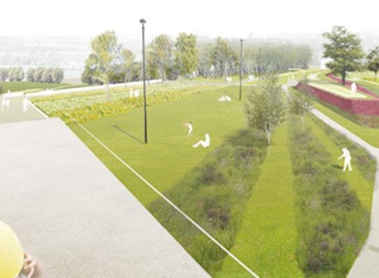 1. Preis: Blick von der Gartenschaubrücke