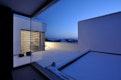 Blick über die Dachterrasse im Winter