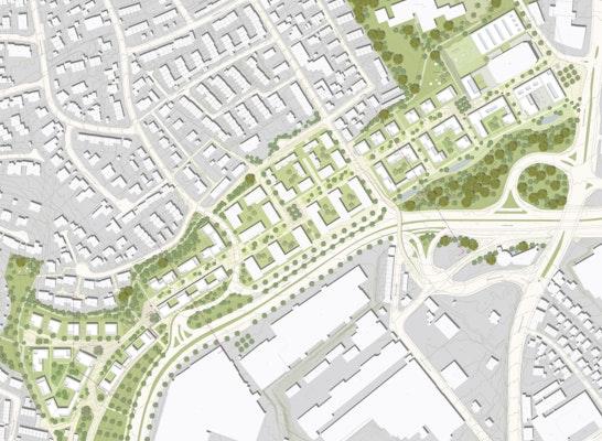 1. Preis: © LEHEN drei Architektur Stadtplanung / Stefan Fromm Landschaftsarchitekten