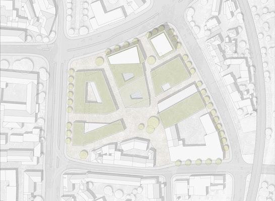 Außenanlagenplan - 1:1000