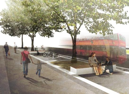 Gewinner: Seitenstreifen Kleiststraße, © hutterreimann Landschaftsarchitektur GmbH