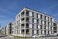 Die Neubauten nehmen die Struktur der benachbarten Bestandsbauten auf. Hier an der Gottfried-Keller-Straße.