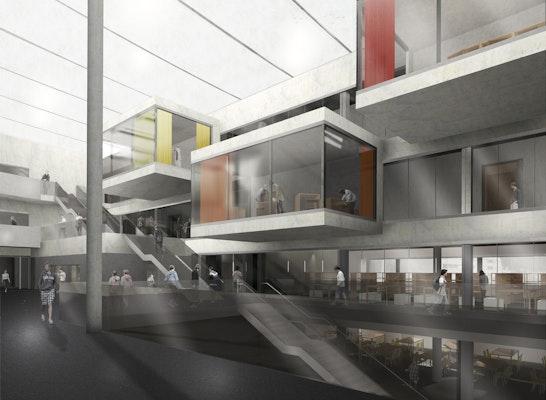 3D-Darstellung Atrium Genoveva-Gymnasium