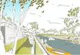 Blick Richtung Flussbad