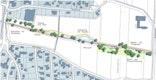Entwurf Retzbachpark und Retzbachrenaturierung: hier Ausschnitt Bachrenaturierung