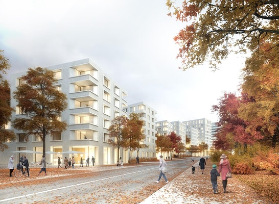 ein 1. Preis Gewinner: Bismarckquartier Würzburg, © Baumschlager Eberle Architekten